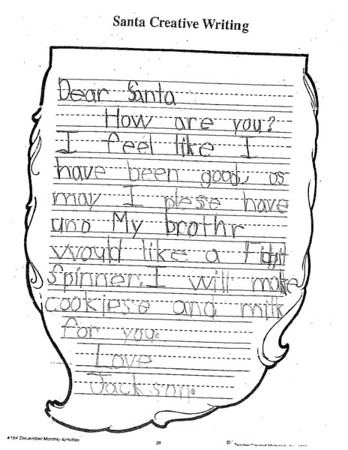 Letters to Santa - Ms. Garner's first grade, 12/1/2017