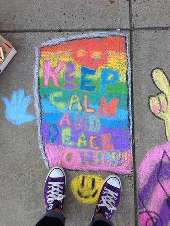 Groveton E.S. CHALK4PEACE 2013