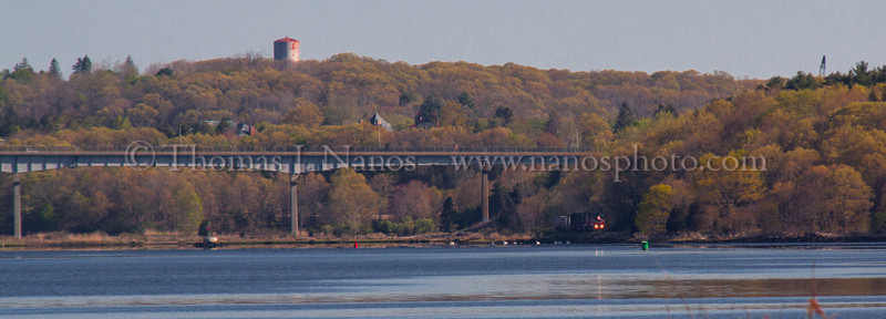 2012-04-25 - PW NR2 at MP7-AMTK 171 at NAN-Two ships at New London - AMTK Acela at Shaw's Cove