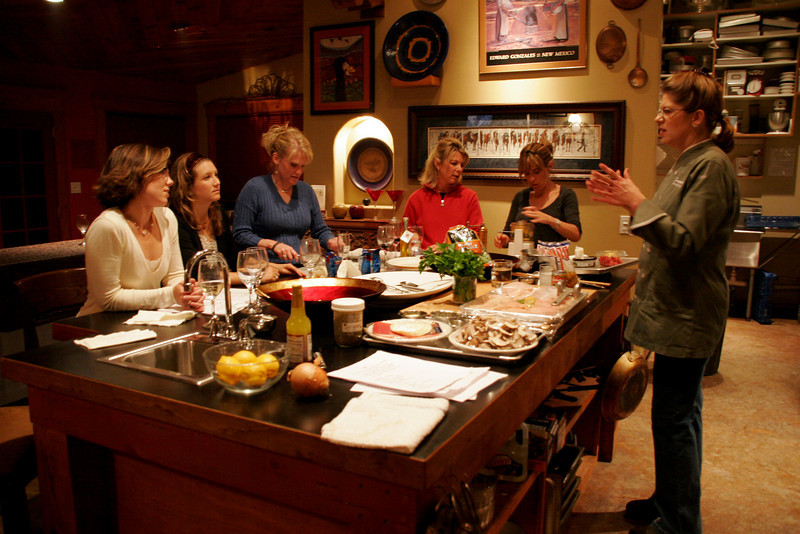 Interactive dinner party, Savories Culinary Studio, chef Bonnie Synder, Ruidoso, NM, USA