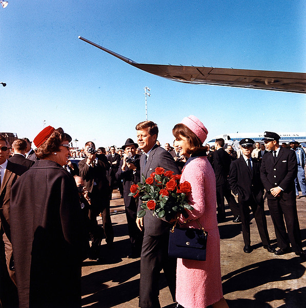 . The president and first lady arrive at Love Field in Dallas on Nov. 22, 1963. Photo by Cecil Stoughton, White House, in the John F. Kennedy Presidential Library and Museum, Boston