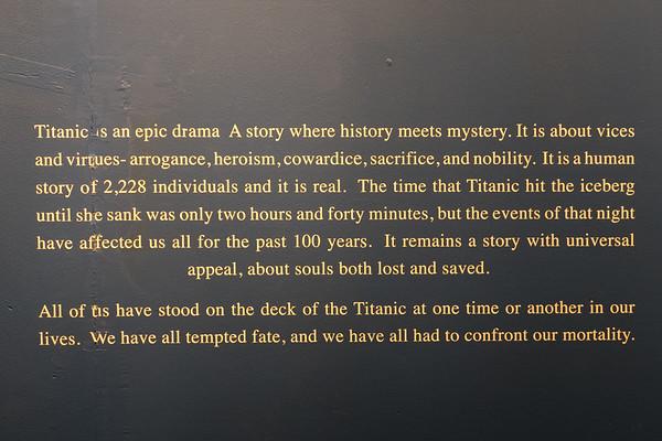 Titanic Exhibition 14APR17