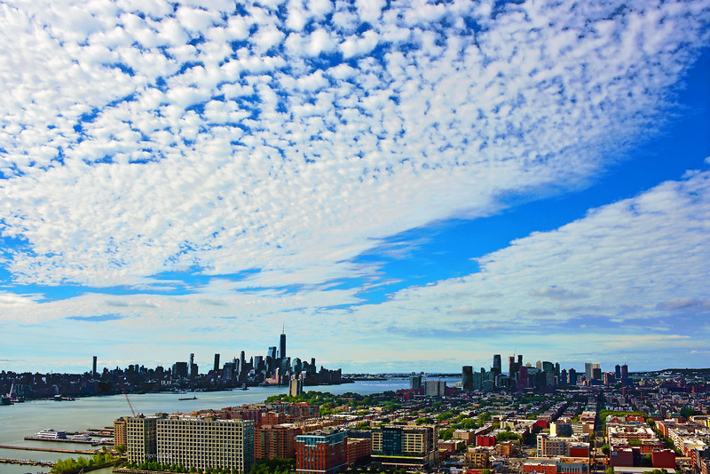 NJ Gold Coast and NYC with Morning Clouds