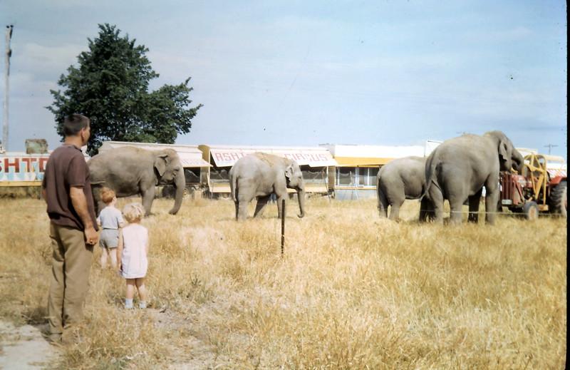 1968-12-1 (12) David nearly 5, Susan 3 yrs 4 mths with Nigel @ circus in Sale.JPG