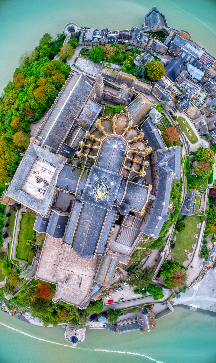 Mont Saint Michel From Above