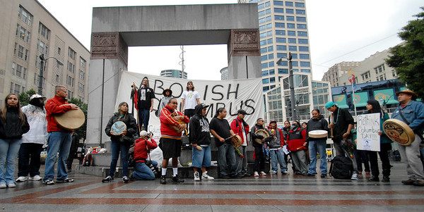 Abolish Columbus Day, Seattle 2011