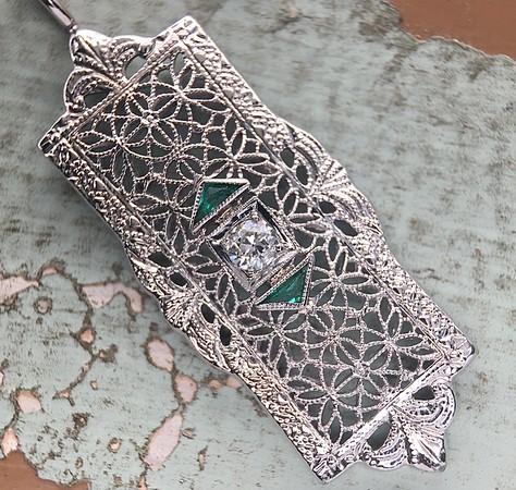 Antique Filigree Pendant