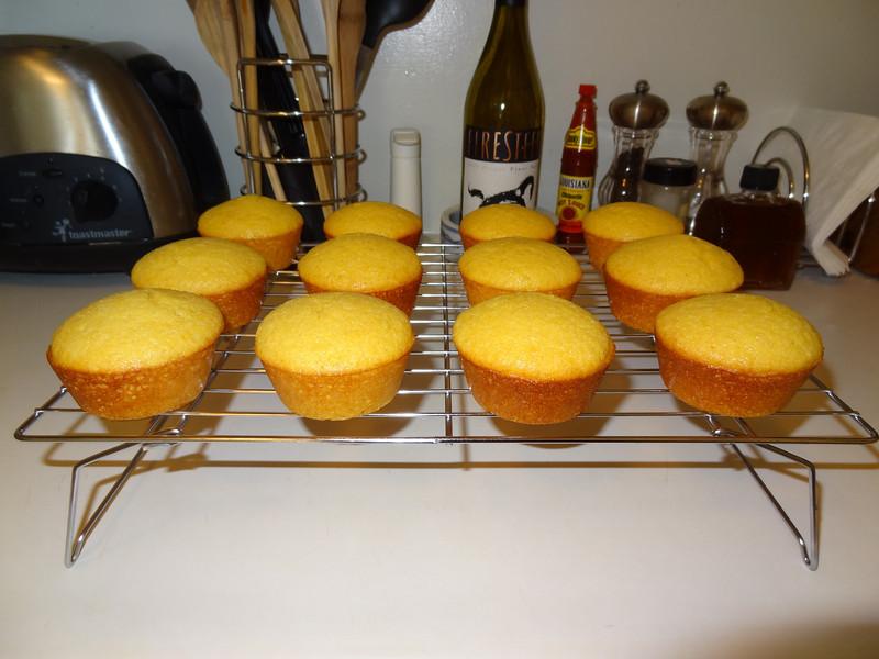 Honey corn muffins.