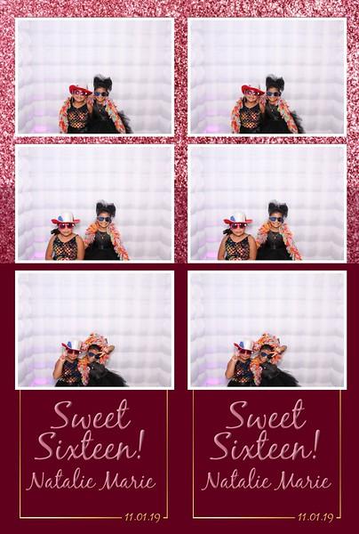 Natalie Marie's Sweet Sixteen (11/01/19)