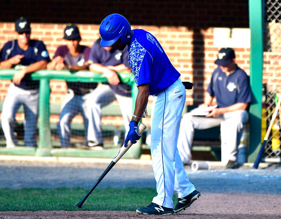 7/5/2019 Mike Orazzi | Staff The Bristol Blues's Austin White (7) Friday night at Muzzy Field.