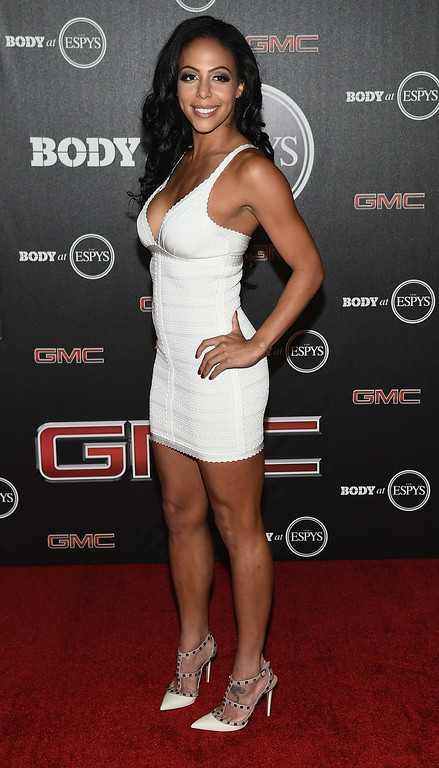 . HOLLYWOOD, CA - JULY 15:  US Soccer player Sydney Leroux arrives at the ESPN\'s BODY at ESPY\'s Pre-Party at Lure on July 15, 2014 in Hollywood, California.  (Photo by Michael Buckner/Getty Images)