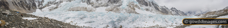 Climbing Sherpas head in to Everest Base Camp. Can be printed over 250cm/100in wide