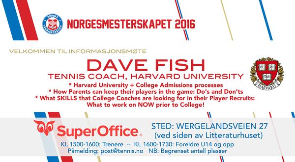 Dave Fish, Harvard Uni