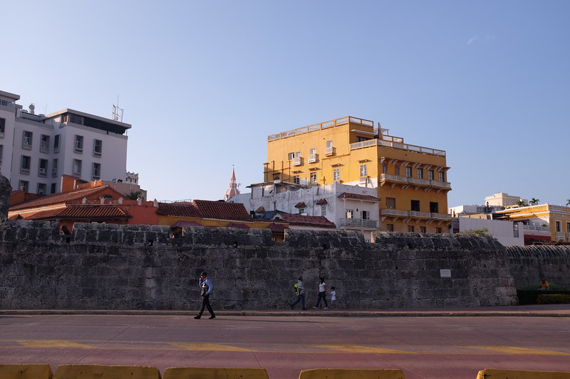 Part of the walls surrounding the historic portion of Cartagena.