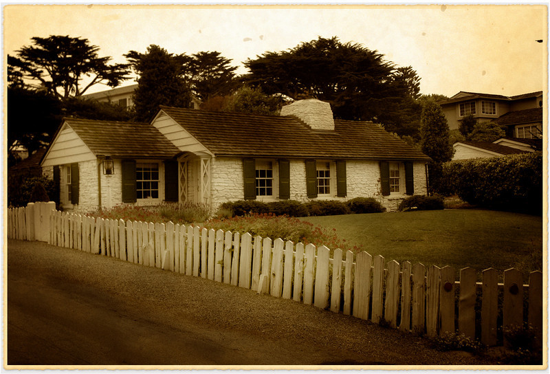 Lovely old cottage in Carmel, California.