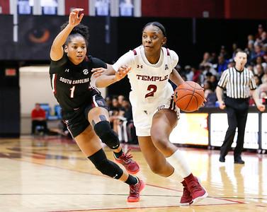 Temple womens basketball vs SC Gamecocks 12.7.2019