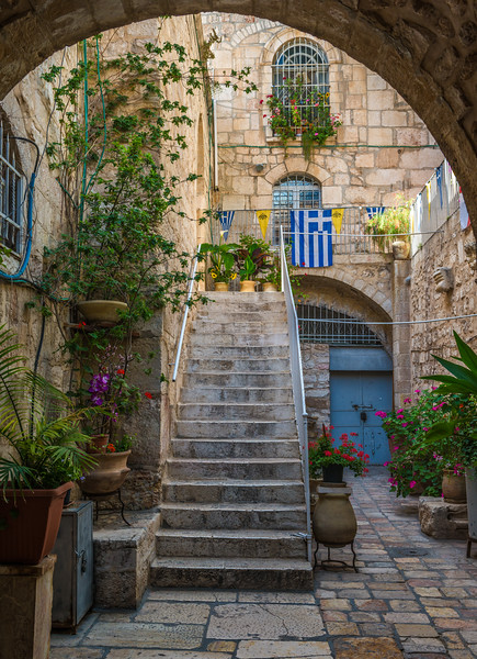 Courtyard in the Christian Quarter of Old Jerusalem