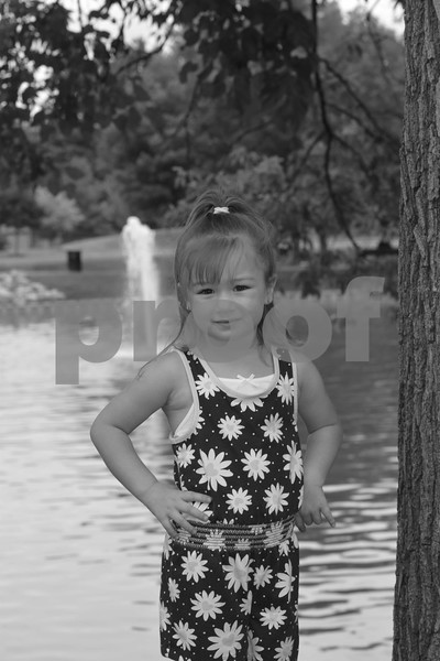 Modeling Kids here in the Park 8-14-16
