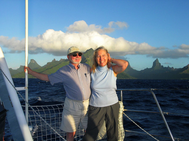June 29, 2004: Departing Cook's Bay, Moorea, French Polynesia  -- Steve and Dorothy