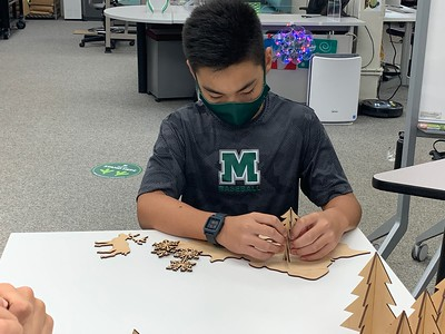 A holiday theme for Mid-Pacific Design Thinking and Immersive Tech classes