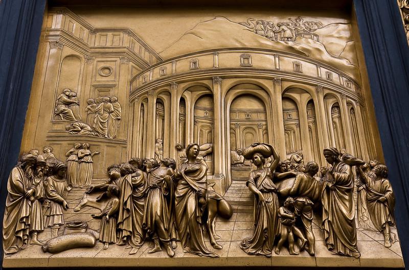 Detail of Battistero's Porta del Paradiso
