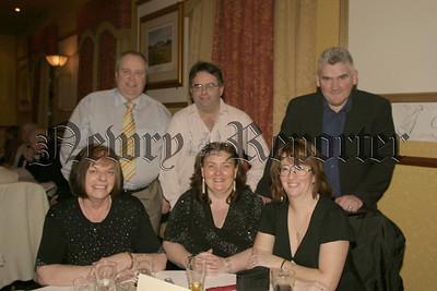 Middle Killeavey Parish Dinner Dance, John & Peggy Cinnamon, Adain & Deidre Shields. Hanna Mulligan and Brian Burns, 06W08N64