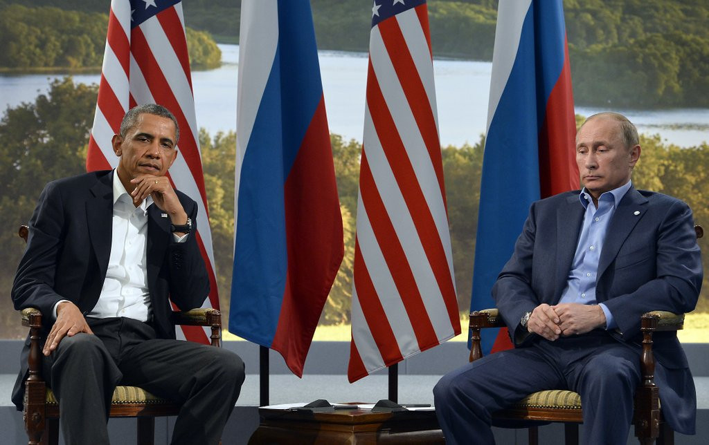 """. <p><b> President Obama pointed out that Russian President Vladimir Putin �clearly miscalculated� that his annexation of Crimea would � </b> <p> A. Drive a wedge between the United States and European Union <p> B. Lead to a further annexation of Ukrainian territory <p> C. Disrupt the president�s tee times <p><b><a href=\'http://abcnews.go.com/International/wireStory/obama-warns-russia-ukraine-advance-23050770\' target=\""""_blank\"""">HUH?</a></b> <p>    (Jewel Samad/AFP/Getty Images)"""