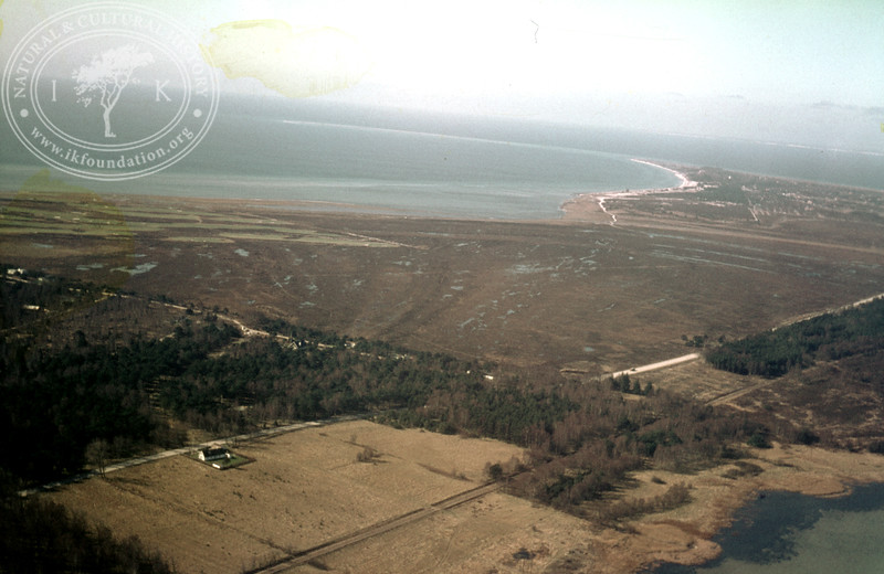 Skanör ljung from northeast, Kämpingebukten with Denmark | EE.1995