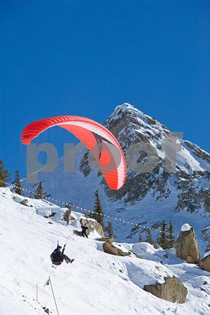 Paragliding winter mtns 3/16/10