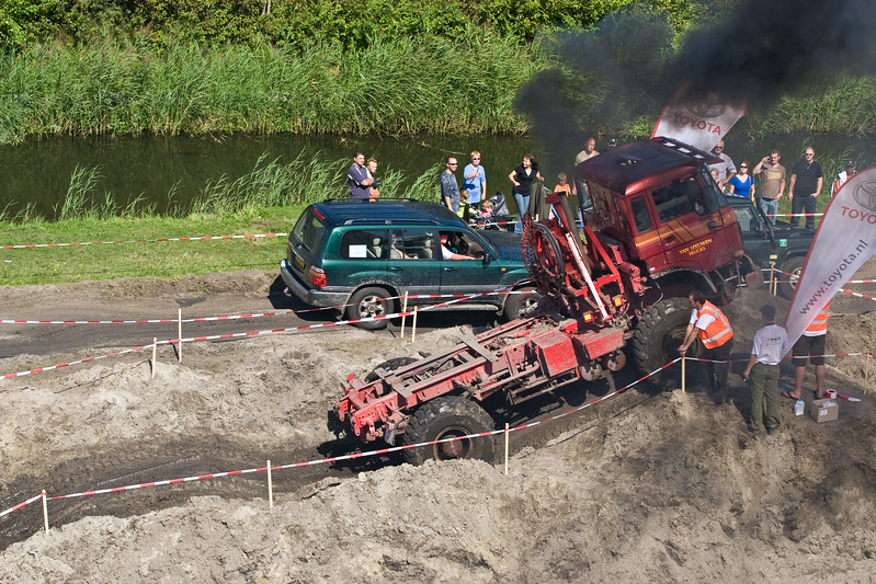 4x4 Zanderij Trial. Najaarsfeest oranjevereniging Katwijk aan den Rijn.