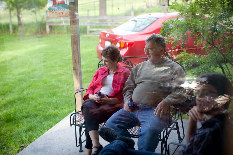 Tom and Cathy David during a family party on May 7, 2011.  (Jay Grabiec)