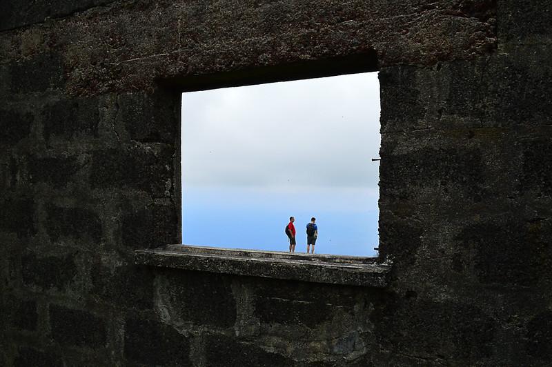 Walking on the window ledge