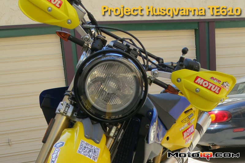 Project Husqvarna TE610 Part 7: Baja Designs Racelight with Boatman H4 Conversion