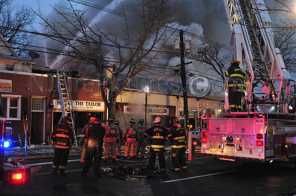 WESTFIELD, NJ 6-ALARM FIRE 439 SOUTH AVE W. 1/22/12