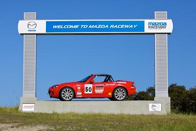 Miatas at Mazda Raceway 2012