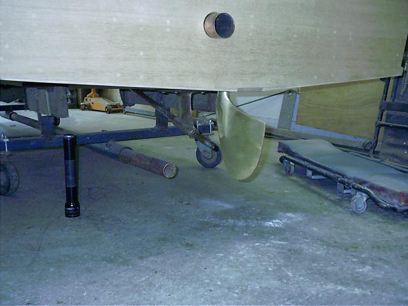 New rudder installed.