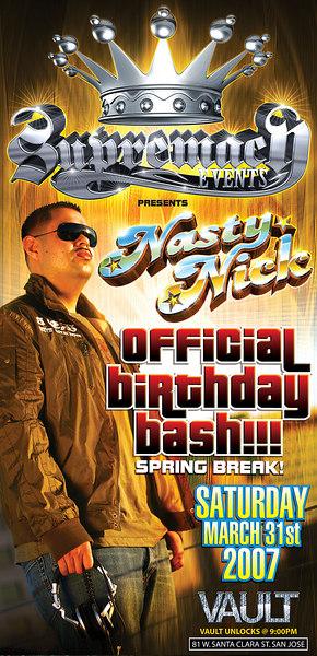 DJ NastyNick Birthday Bash @ Vault 3.31.07