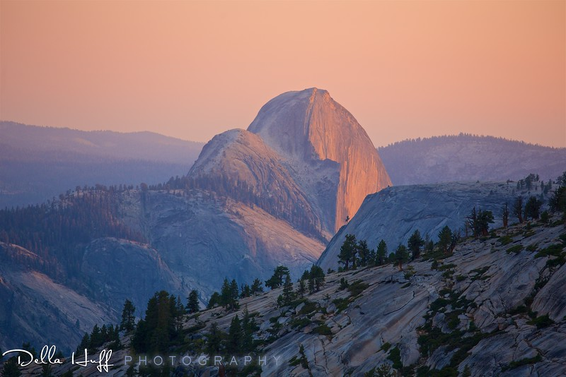 Last Light on Half Dome from Olmsted Point