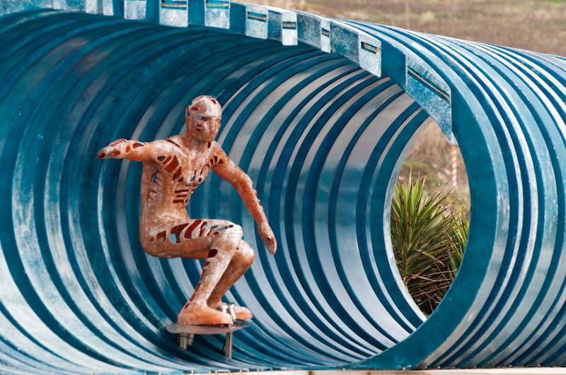 Die ist der einzige Surfer, den Bernd vor die Linse bekam.