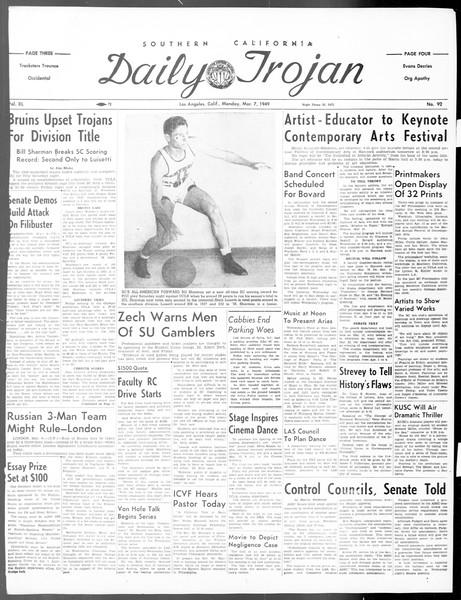 Daily Trojan, Vol. 40, No. 92, March 07, 1949