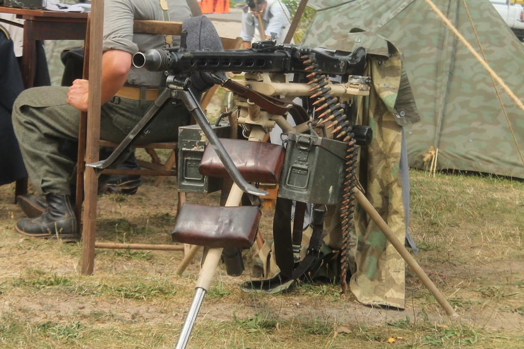 . A German machine gun on display at D-Day Conneaut 2018. Kristi Garabrandt - The News-Herald