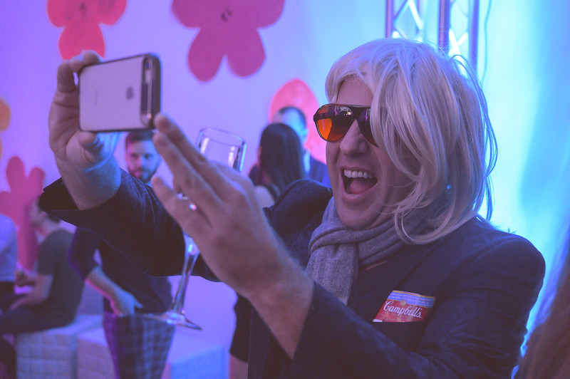 November 16th, 2019 - Audain Art Museum presents the Warhol Factory Party as part of Cornicopia 2019.  Please credit Scott Brammer photography or tag on instagram photo by @scott_brammer