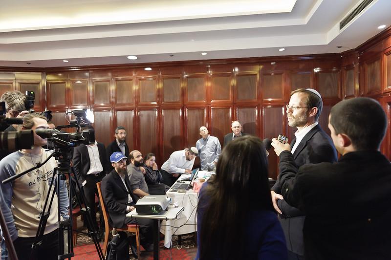 Press conference of Moshe Feiglin