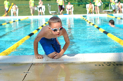 JUST TRYAN IT Kids Triathlon 6-17-2012 Swim