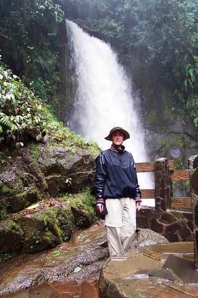 Hiking a Waterfall in the Rain