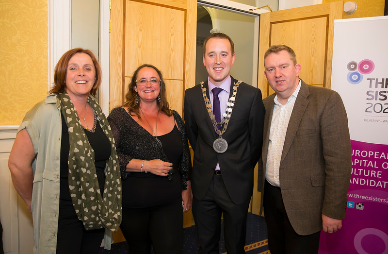 18/05/2016. Irish Accounting & Finance Accociation Annual Conference at WIT (Waterford Institute of Technology). Pictured at The Mayor's reception are Clare Kearney WIT, Jill Atkins, Mayor Cllr. John Cummins and Joe Coughlin. Picture: Patrick Browne
