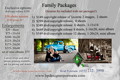 Family pricing and packages