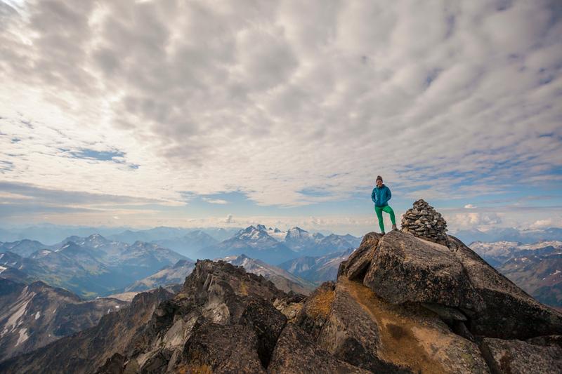Climbing Mount Marriot, British Columbia, Canada.