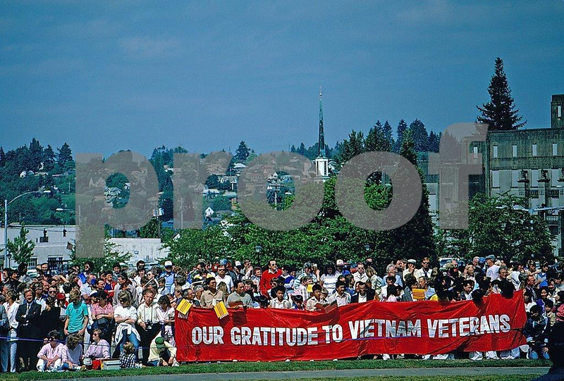 The people of Washington State honor their veterans of the Vietnam War. WA