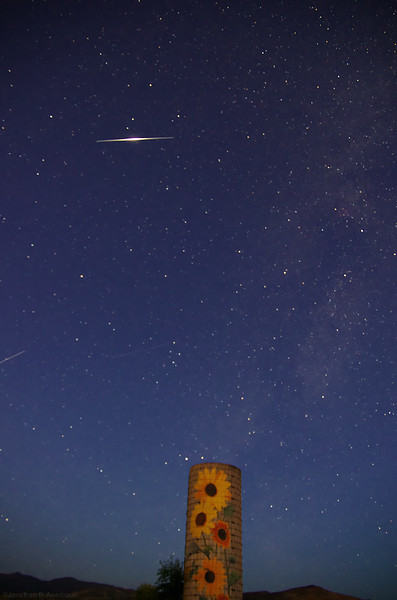 Iridium Flare and SIlo